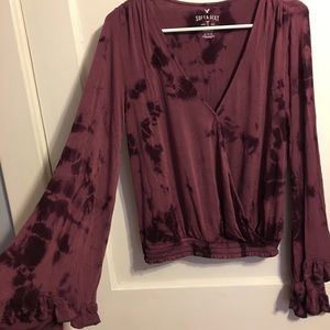 American Eagle Outfitters Tops - Tie dye print long bell sleeve shirt